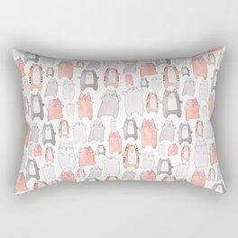 cat nation collage - pink Rectangular Pillow