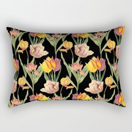 Vintage Floral Pattern | No. 3A | Tulips Rectangular Pillow