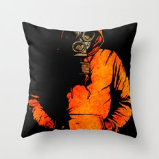 vulpes pilum mutat, non mores Throw Pillow