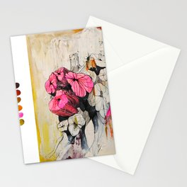 Pink wood stumps Stationery Cards
