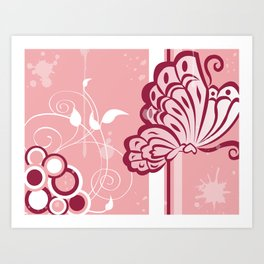 Le Beau Papillon Art Print