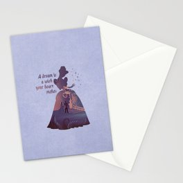 """""""A Dream Is A Wish Your Heart Makes"""" Cinderella Inspired Stationery Cards"""