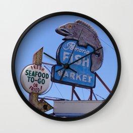 Pomona Fish Market Wall Clock