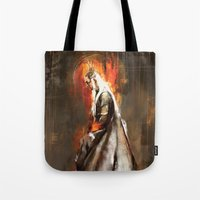 thranduil Tote Bags featuring Thranduil Oropherion by Wisesnail