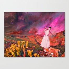AUDREY HEPBURN IN STARRY DESERT Canvas Print