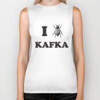 kafka Biker Tanks featuring Kafka by Ana Laya