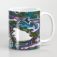 techno Mugs featuring Purple Techno by Madison R. Leavelle