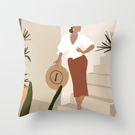 La Señorita Throw Pillow