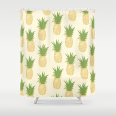 Pineapple Gold Shower Curtain