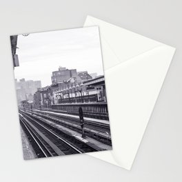 New York Subway Black and White Stationery Cards