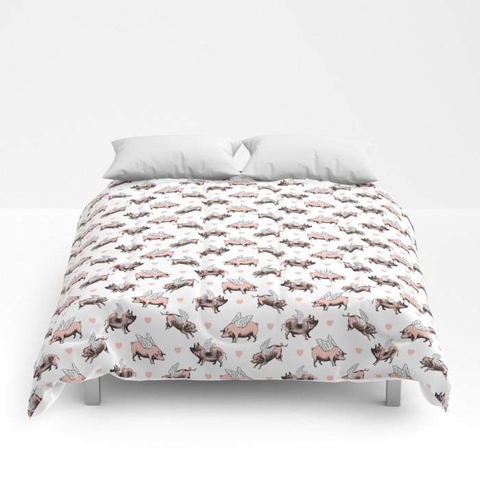 Flying Pigs Comforters