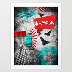 Fire and Axe concept! Art Print