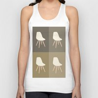 eames Tank Tops featuring Eames x 4 #4 by bittersweat