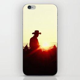 sundown rodeo iPhone Skin