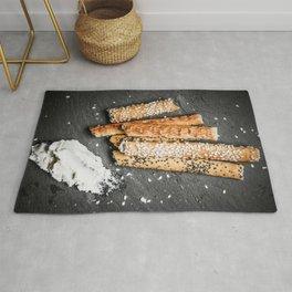 Breadsticks art #food #stilllife Rug