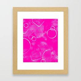 Texture #26 in Hot Pink Framed Art Print