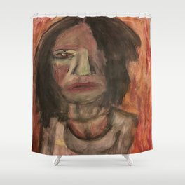The Hungry Eyes Shower Curtain