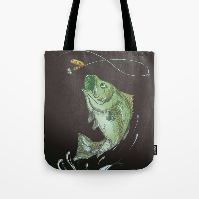 Bass Jumping At Night Tote Bag