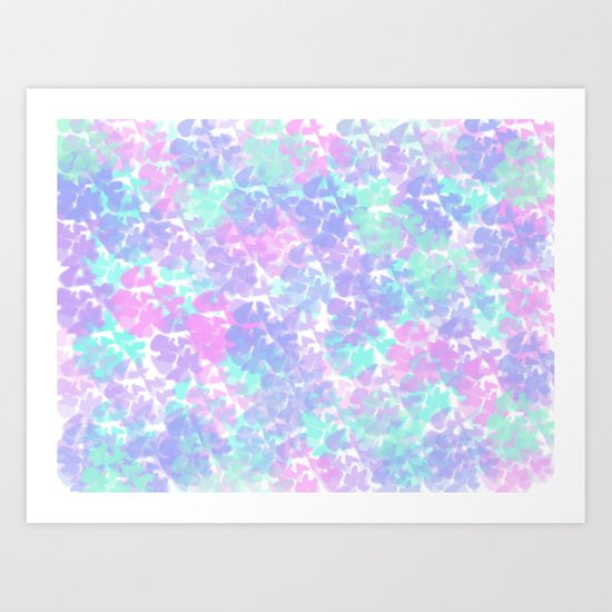 Soft Painterly Fluffy Pastel Abstract Art Print