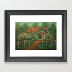 Country Cottage AC160826a Framed Art Print