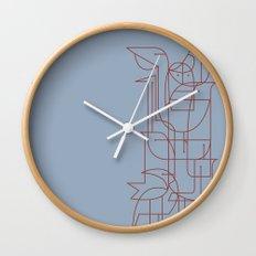 Geometric Birds 2 Wall Clock