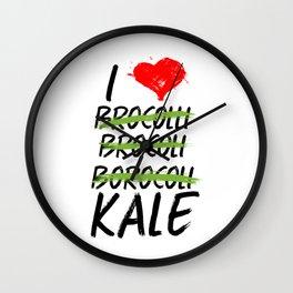 Kale Art for Vegans, Vegetarians n Broccoli Lovers Light Wall Clock