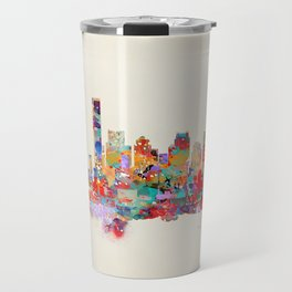 Boston city watercolor Travel Mug
