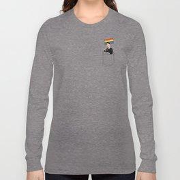 Gay Friendly Pocket Guy Long Sleeve T-shirt