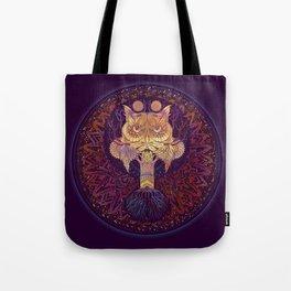 Owl Mandala Tote Bag
