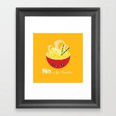 N is for Noodles Framed Art Print