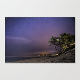 HAWAII - NorthShore night Sky - Stars and beach Canvas Print