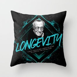 Stan Lee Motivational Art and Quote Throw Pillow