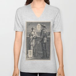 Vintage poster - The Maruis of Lossie Manga Unisex V-Neck