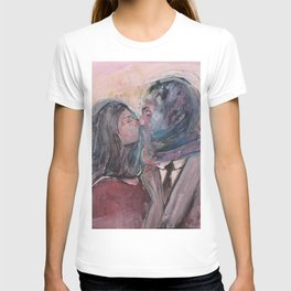 Lovers from Magrite T-shirt