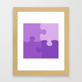 Pastel Ultra Violet Puzzle Pattern Jigsaw Pieces Framed Art Print