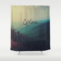 explore Shower Curtains featuring Explore by Olivia Joy StClaire