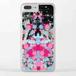 Girl with a Cat Clear iPhone Case
