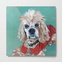 Ted the Cocker Spaniel Dog Art Metal Print