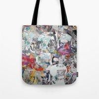 propaganda Tote Bags featuring WHATEVER (PROPAGANDA) by Brandon Neher