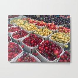 Cherries Union Square New York Metal Print