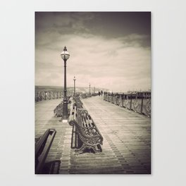 Swanage Pier Antiqued Canvas Print