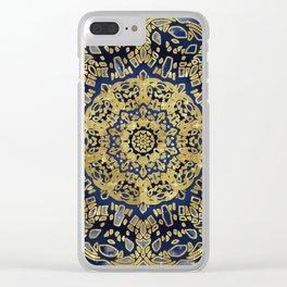 Night Sky Mandala Clear iPhone Case