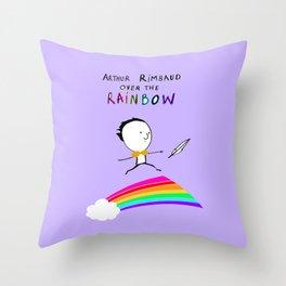 ARTHUR RIMBAUD OVER THE RAINBOW Throw Pillow
