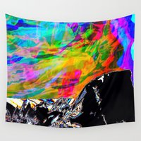 northern lights Wall Tapestries featuring Northern Lights  by Sara Naomi Goodman