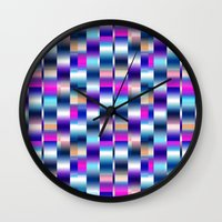 blur Wall Clocks featuring Blur by Aimee St Hill