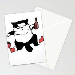 fat panda cat Stationery Cards
