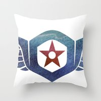 pacific rim Throw Pillows featuring Pacific Rim Gipsy Danger by foreverwars