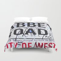 downton abbey Duvet Covers featuring Abbey Road by Maioriz Home