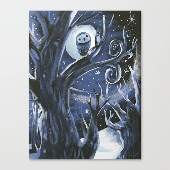 On a Night Like This Canvas Print