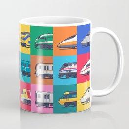World Trains Grid Pattern Coffee Mug